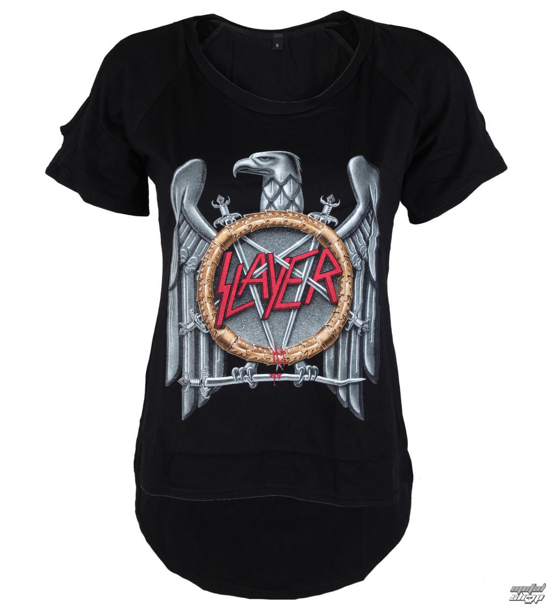 tričko dámské Slayer - Silver Eagle Cut Out Tee - ROCK OFF - SLAYCOT01LB
