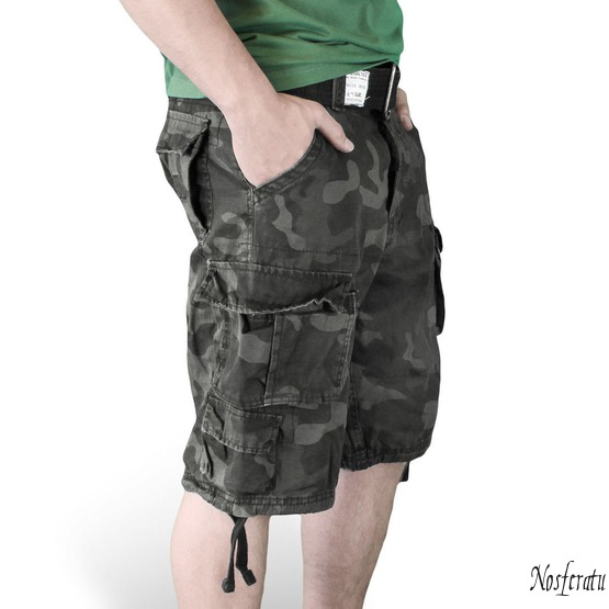 kraťasy SURPLUS - DIVISION SHORT - NIGHT CAMO