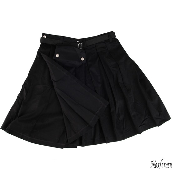 kilt Black Pistol - Short Kilt Denim Black