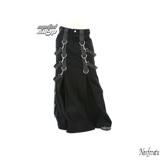 kilt Aderlass - Belt Skirt Denim Black