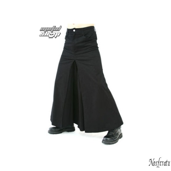 kilt Black Pistol - Men Skirt Denim Black