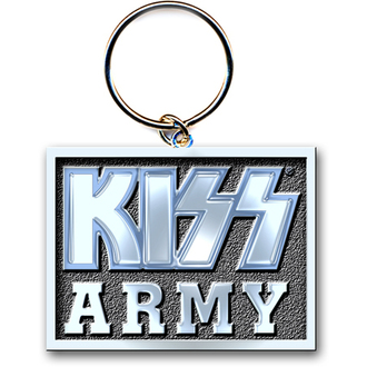 klíčenka (přívěšek) KISS - Army Block -  ROCK OFF - KISSKEY06
