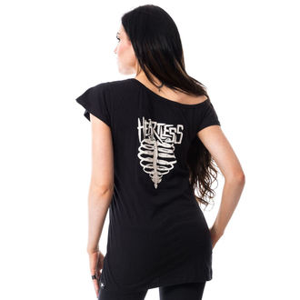 tričko dámské HEARTLESS - TORTURE OFF SHOULDER T - BLACK - POI180