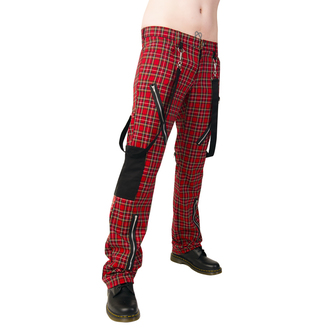 kalhoty Black Pistol - Punk Pants Tartan Red-Green - B-1-01-060-04