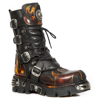 boty NEW ROCK - Flame Boots (591-S1) Black-Orange