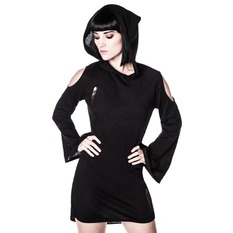 šaty dámské KILLSTAR - Dee Spare Distress Dress - Black, KILLSTAR