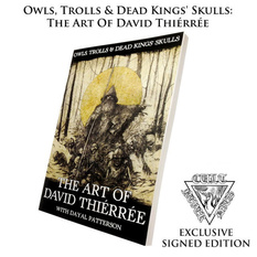 kniha Owls, Trolls, Dead King's Skulls: Art Of David Thiérrée (signed), CULT NEVER DIE
