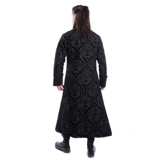 kabát pánský POIZEN INDUSTRIES - MONARCH - BLACK BROCADE, POIZEN INDUSTRIES