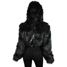 bunda dámská KILLSTAR - Night Creature Faux-Fur, KILLSTAR